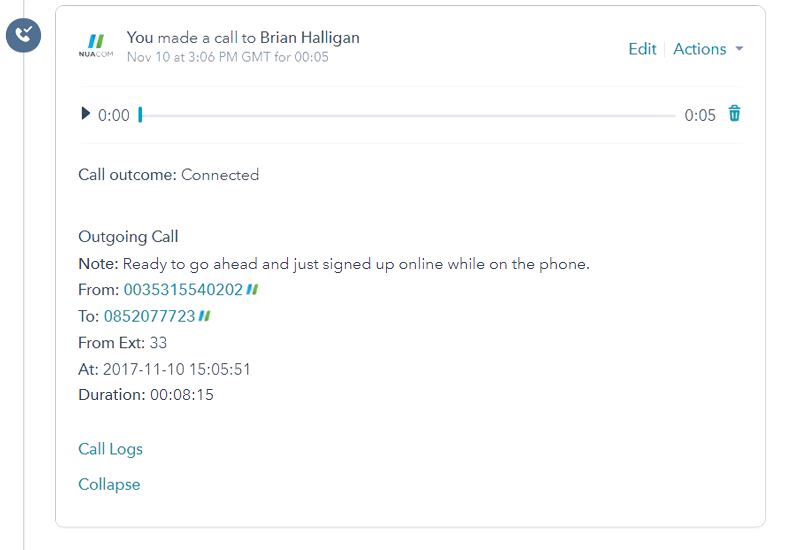 NUACOM VoIP Phone System with HubSpot Integration